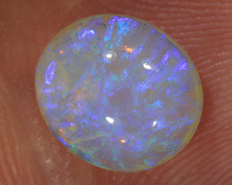 2.2ct 9x8mm Solid Lightning Ridge Crystal Opal [LO-2017]