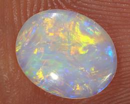 0.45ct 8.5x7mm Solid Lightning Ridge Crystal Opal [LO-2018]