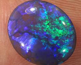 2ct 12x10mm Solid Lightning Ridge Dark Crystal Opal [LO-2020]