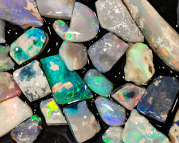 Rough Opal Lot 94.50 cts 30 pcs Black Opals Lightning Ridge BORC301219