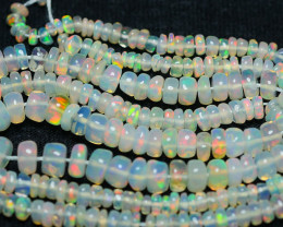 27.05 CRT BEAUTY OPAL BEADS STRANDS MULTI PLAY COLOR WELO OPAL-