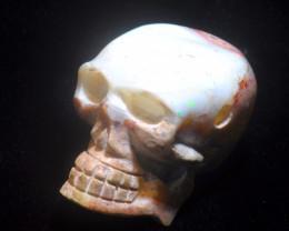 300ct. Skull Mexican Cantera Fire Opal Pendant