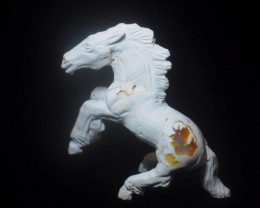 90ct. Horse Mexican Cantera Fire Opal Figurine