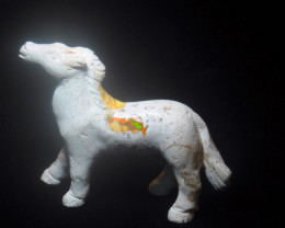 100ct. Horse Mexican Cantera Fire Opal Figurine