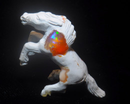 120ct. Horse Mexican Cantera Fire Opal Figurine