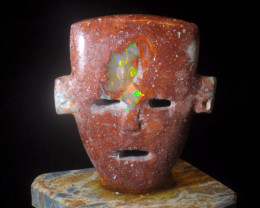 1000ct. Face Mexican Cantera Fire Opal Figurine