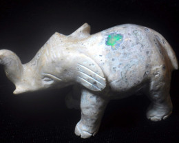 300ct. Elephant Mexican Cantera Fire Opal Figurine