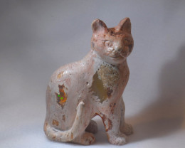500ct. Cat Mexican Cantera Fire Opal Figurine