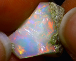 7.93Ct Multi Color Play Ethiopian Welo Opal Rough G0309