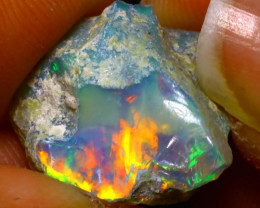 12.15Ct Multi Color Play Ethiopian Welo Opal Rough G0316