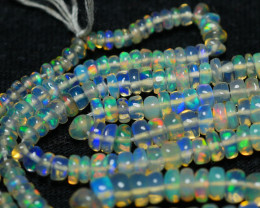 26.35CRT GORGEOUS OPAL BEADS STRANDS FULL COLOR WELO OPAL-