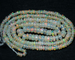 26.30CRT GORGEOUS OPAL BEADS STRANDS FULL COLOR WELO OPAL-