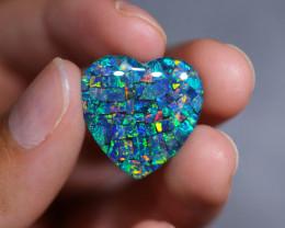 13.9 Cts Australian Opal Triplet Heart shape   Br 2470