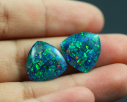 10 Cts Australian Opal Triplet pairs   Br 2473