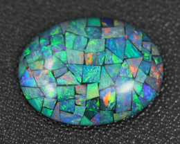 9.95 Cts Australian Opal Triplet Oval  shape   Br 2474