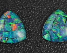 4.2 Cts Australian Opal Triplet Pair    Br 2475