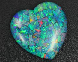 38 Cts Australian Opal Triplet Heart shape   Br 2476