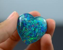 38 Cts Australian Opal Triplet Heart shape   Br 2477