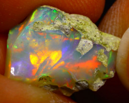5.41Ct Multi Color Play Ethiopian Welo Opal Rough G0512