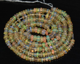 26.55 Ct Natural Ethiopian Welo Opal Beads Play Of Color OB880