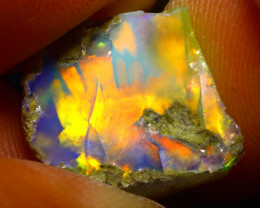 7.03Ct Multi Color Play Ethiopian Welo Opal Rough F0821