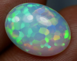 3.50 CT GORGEOUS HEXAGONAL PATTERN WELO OPAL