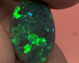 5.25 CT's gem black lightning ridge solid opal
