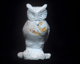 350ct. Owl Mexican Cantera Fire Opal Figurine