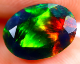1.56cts Ethiopian Welo Faceted Smoked Black Opal / BF636