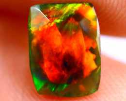 0.84cts Ethiopian Welo Faceted Smoked Black Opal / BF638