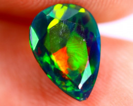 1.03cts Ethiopian Welo Faceted Smoked Black Opal / BF640