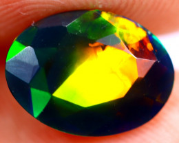1.40cts Ethiopian Welo Faceted Smoked Black Opal / BF641