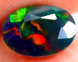 1.28cts Ethiopian Welo Faceted Smoked Black Opal / BF643
