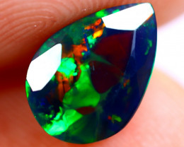 1.08cts Ethiopian Welo Faceted Smoked Black Opal / BF647