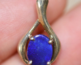 Australian made Blue  Opal Doublet Silver pendant   OPJ 2548