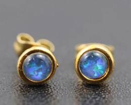 Australian Opal Triplet Earrings   OPJ 2551