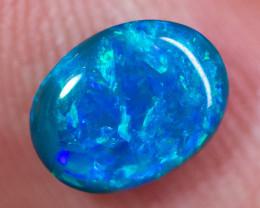 0.88 cts Solid black opal loose gemstone BOPA080120