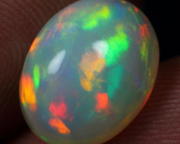 3.30cts 5/5 Crayon Pattern Natural Ethiopian Welo Opal