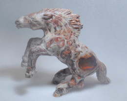 145ct. Horse Mexican Cantera Fire Opal Figurine