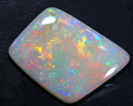 12.85  CTS-QUALITY  WHITE OPAL POLISHED CUT Y-7