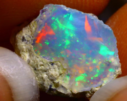 5.30Ct Multi Color Play Ethiopian Welo Opal Rough G1310