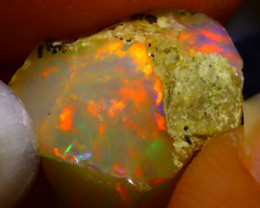 8.49Ct Multi Color Play Ethiopian Welo Opal Rough G1311