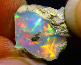 4.92Ct Multi Color Play Ethiopian Welo Opal Rough G1317