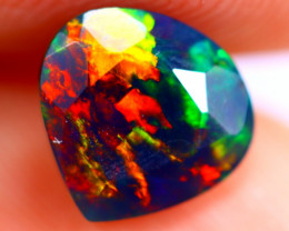0.93cts Ethiopian Welo Faceted Smoked Black Opal / BF688