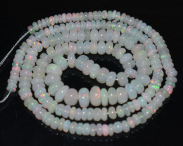 39.70 Ct Natural Ethiopian Welo Opal Beads Play Of Color OB896
