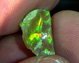 4.95 cts Ethiopian Welo CHAFF rough opal N5 4/5