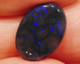 4.35 ct Black Crystal Opal from Lightning Ridge -Australia