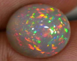 4.50 NATURAL DARK GREY BASE PRISM FIRE WELO ETHIOPIAN OPAL