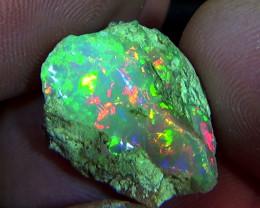 14.65 cts Ethiopian Welo CHAFF rough brilliant opal N7 5/5