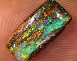 3.25ct 12.5x6.5mm Crystal Pipe Boulder Opal Wood Fossil  [LOB-3083]